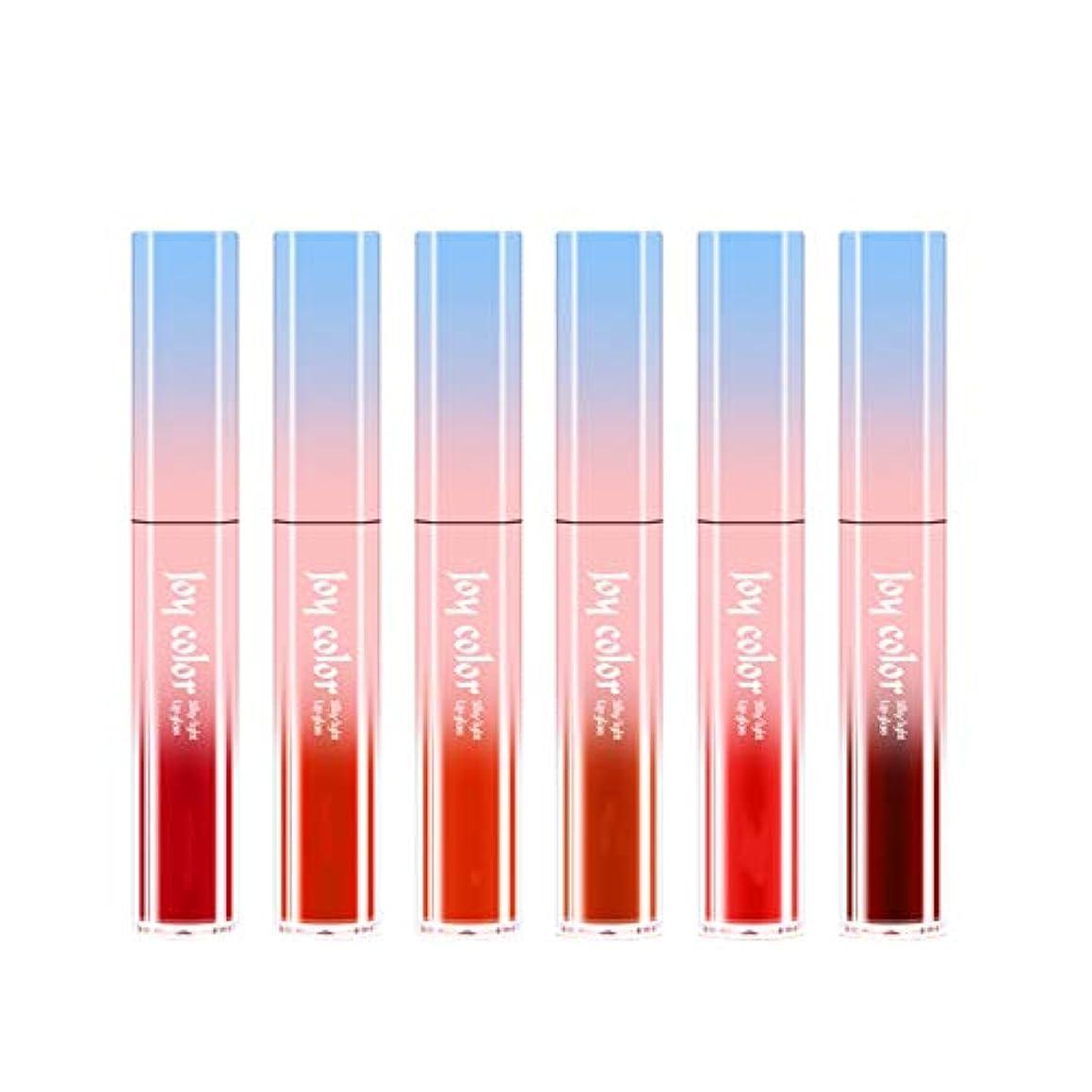 上下する見えるに応じて6ロング防水液体口紅液体リップグロスビロードの光栄養水分化粧品スキンケア