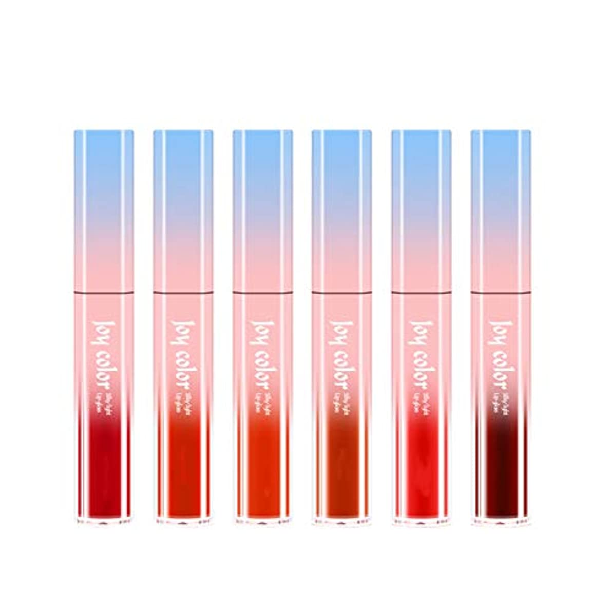 若者ドキドキ乏しい6ロング防水液体口紅液体リップグロスビロードの光栄養水分化粧品スキンケア