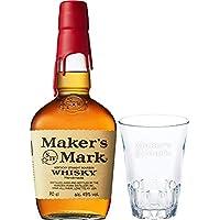 バーボンウイスキー メーカーズマーク カット入りオリジナルグラス付 [ ウイスキー アメリカ 700ml ] [ギフトBox入り]