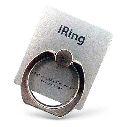 AAUXX 正規代理店品 iRing 車載ホルダーになるフック付 iPhone スマートフォン タブレット スタンド スマホリング グレイシャーシルバー