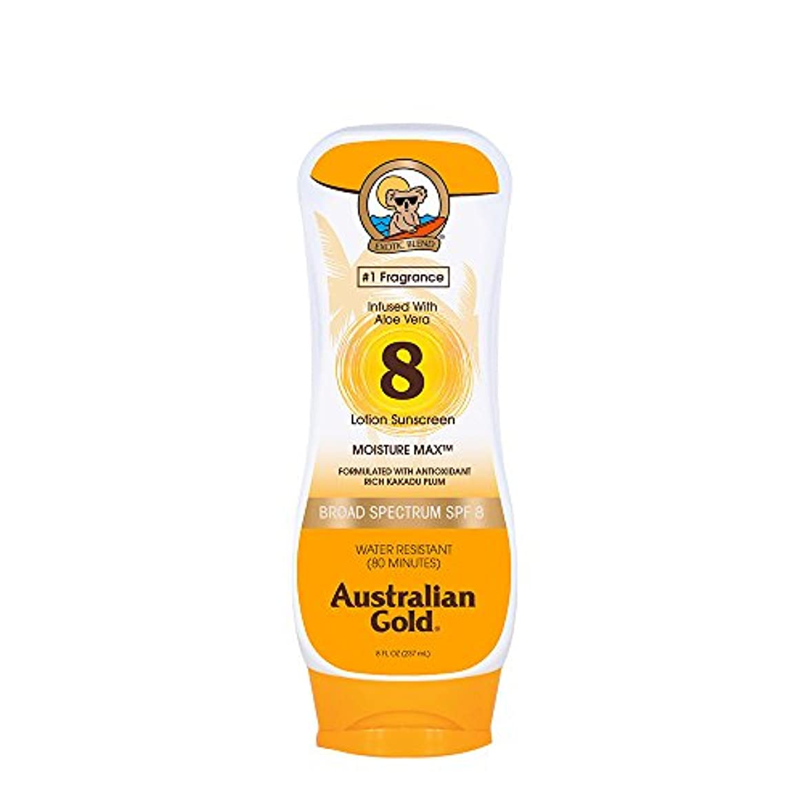 に変わる寄付するラショナルAustralian Gold Lotion Sunscreen Broad Spectrum SPF 8 237ml/8oz並行輸入品