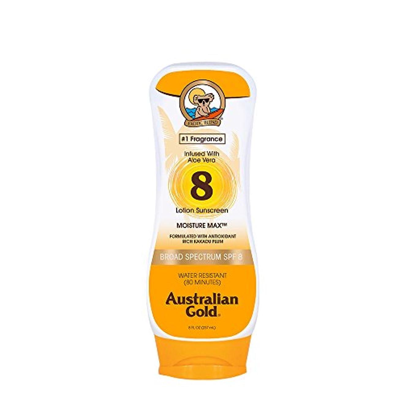 かび臭いオーガニック番号Australian Gold Lotion Sunscreen Broad Spectrum SPF 8 237ml/8oz並行輸入品
