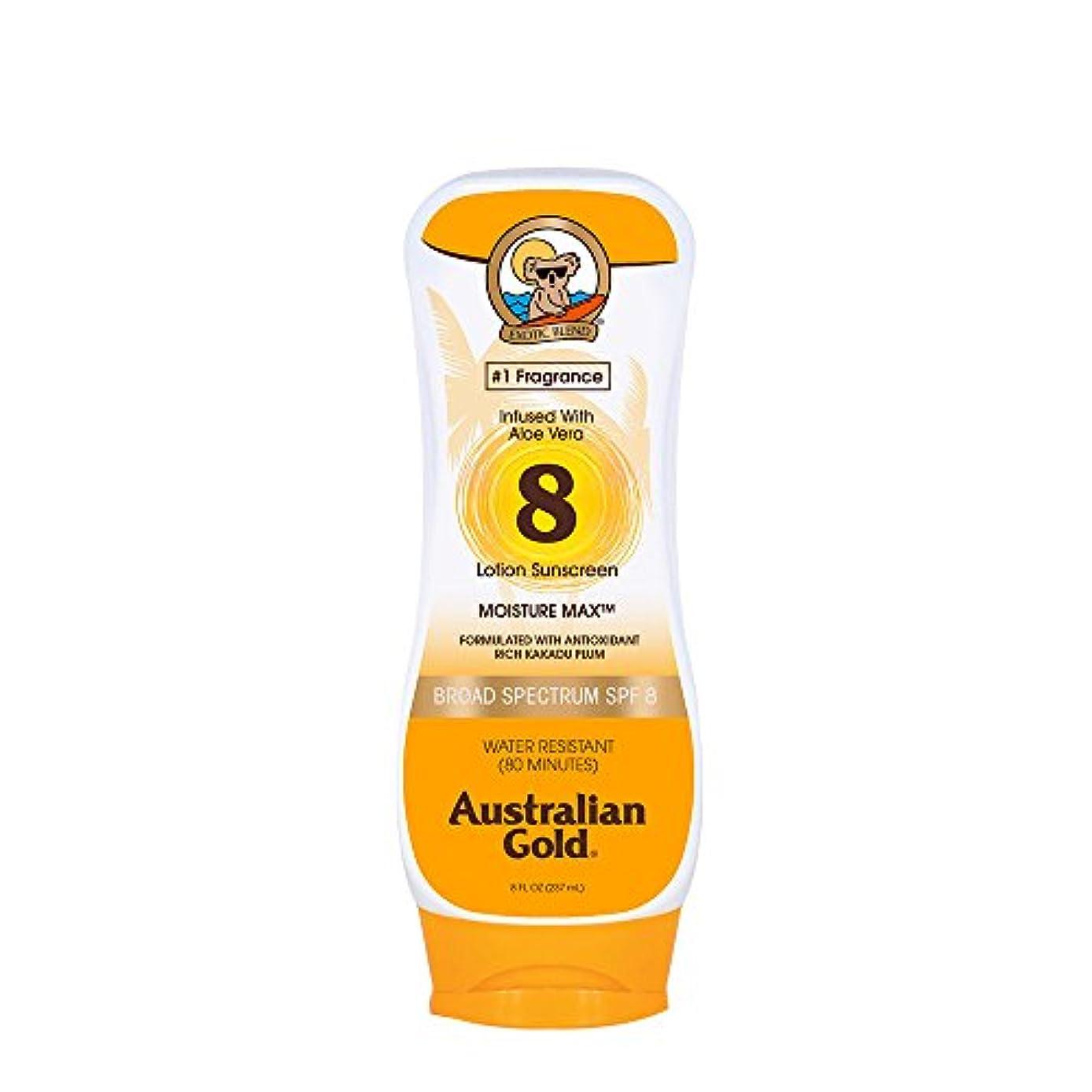 アクション穀物蓮Australian Gold Lotion Sunscreen Broad Spectrum SPF 8 237ml/8oz並行輸入品