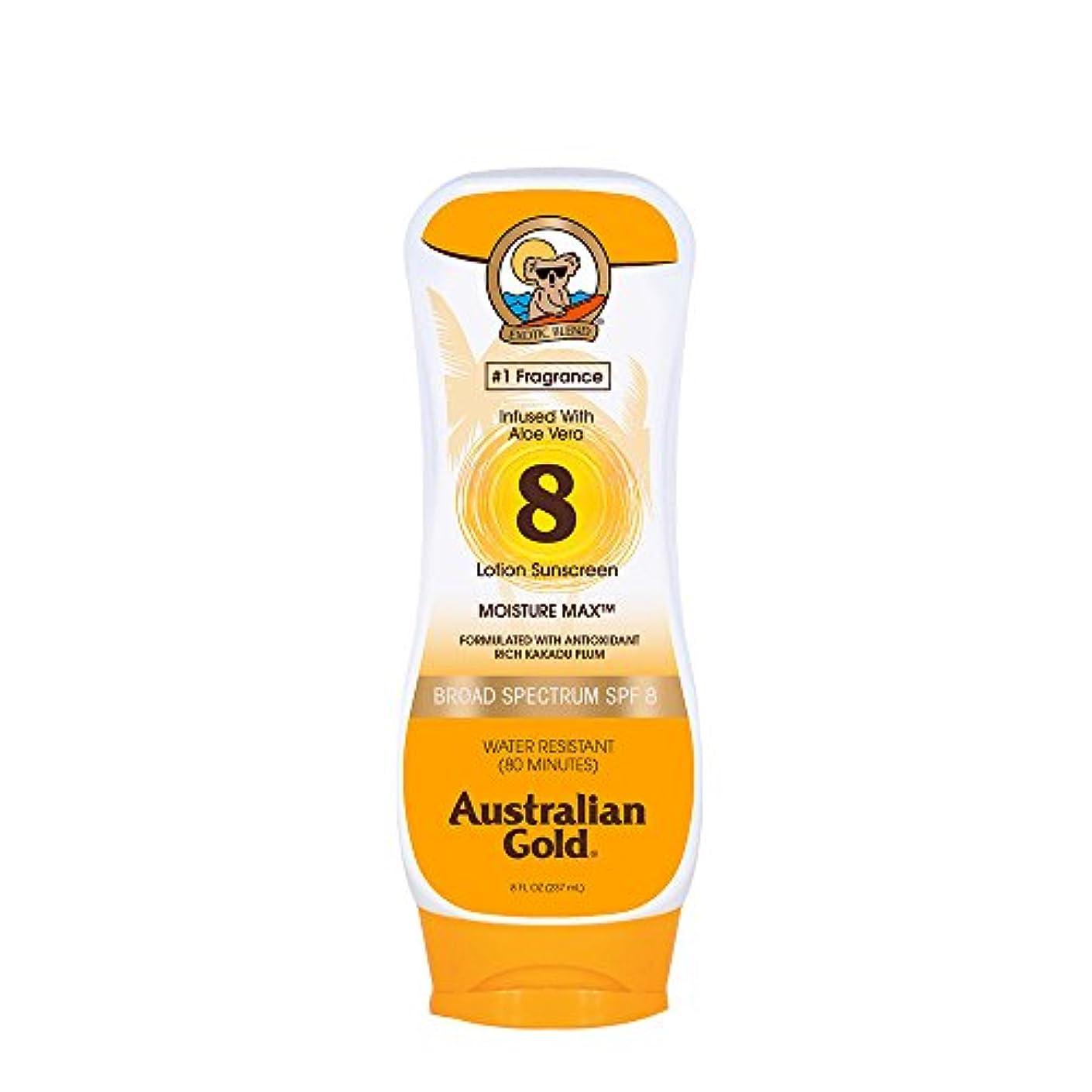 褒賞真鍮通知Australian Gold Lotion Sunscreen Broad Spectrum SPF 8 237ml/8oz並行輸入品