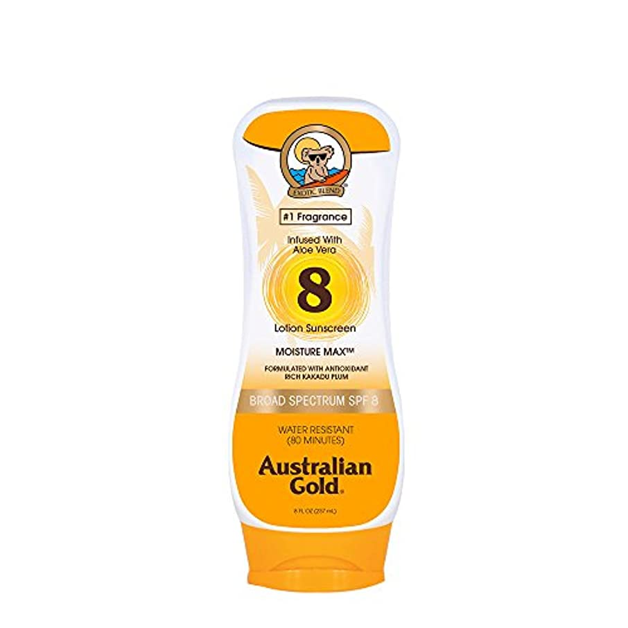 万歳手順バランスAustralian Gold Lotion Sunscreen Broad Spectrum SPF 8 237ml/8oz並行輸入品