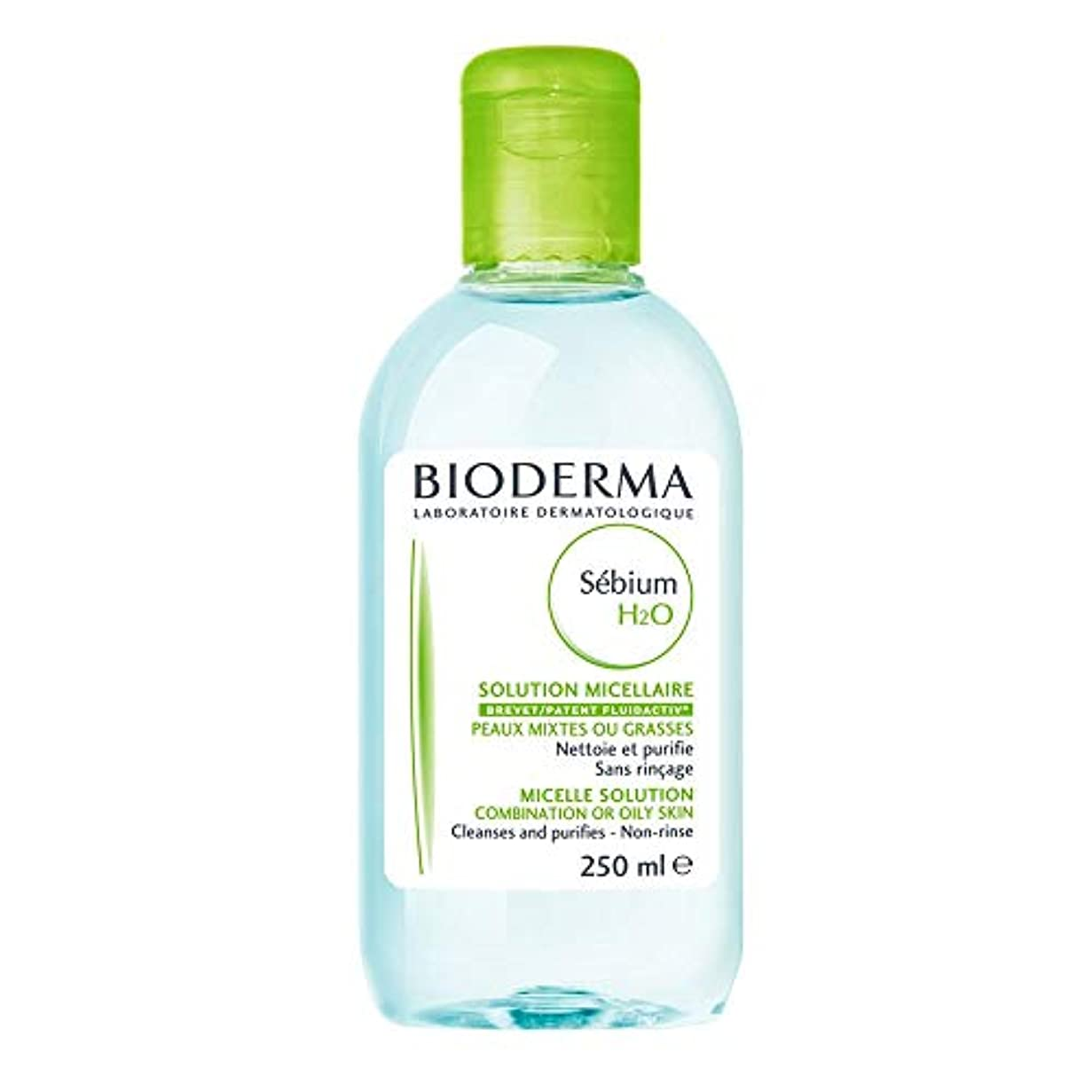 小麦粉焦がす磨かれたBioderma - Sebium H2O Purifying Cleansing Micelle Solution (250 ml) [並行輸入品]