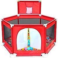 子供の遊び場ボールとバスケットボールのフープアンチロールオーバー遊び庭ドアアンチコリジョン六角プレイゲーム幼児のフェンス