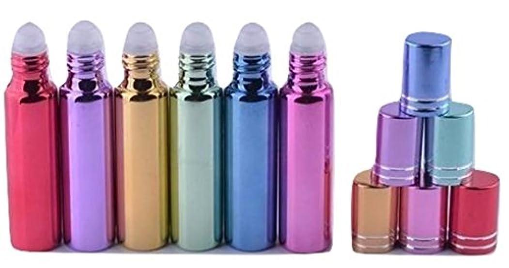 槍無視小康ShopXJ 香水 詰め替え アトマイザー 携帯 持ち運び ミニ サイズ 5ml ロール オン タイプ (イエロー)