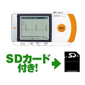 【SDカード付き】 オムロン 携帯型心電計 HCG-801 SDカード利用で300回分の測定データが保存可能
