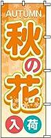 のぼり旗 秋の花入荷 S75819 600×1800mm 株式会社UMOGA