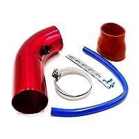 インストールが簡単 3 ``インチ76 mmユニバーサルアルミ車の吸気管キットパイプ冷気吸気システムダクトチューブキットエアフィルター (Color : Red)