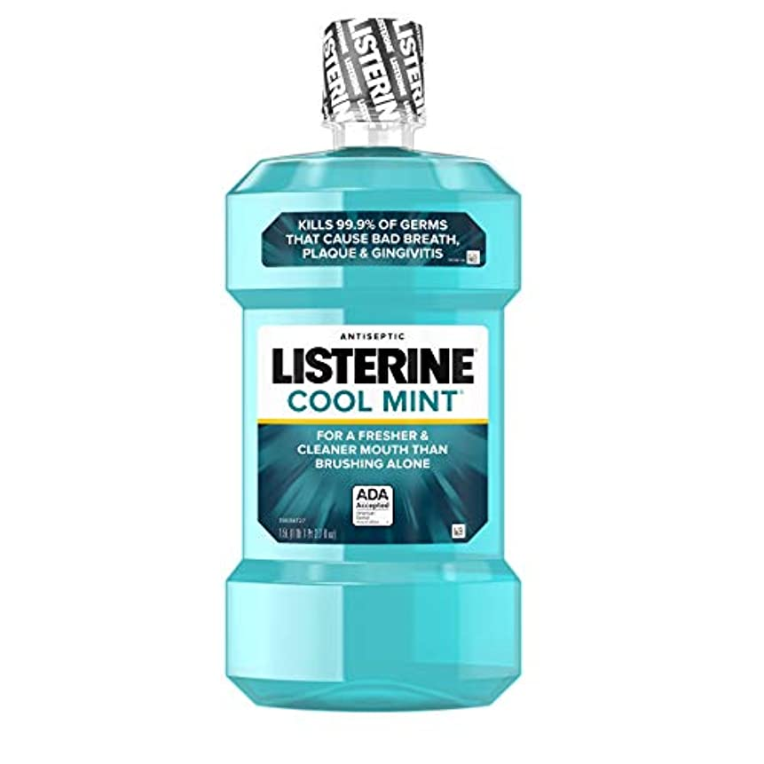 シャイニング不運一生Listerine 口臭、歯垢および歯肉炎のためにミント消毒マウスウォッシュクール、1.5 L