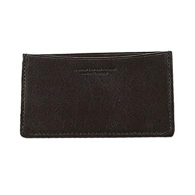 【本革】 スリム名刺入れ メンズ (ブラック) Business Leather Factory