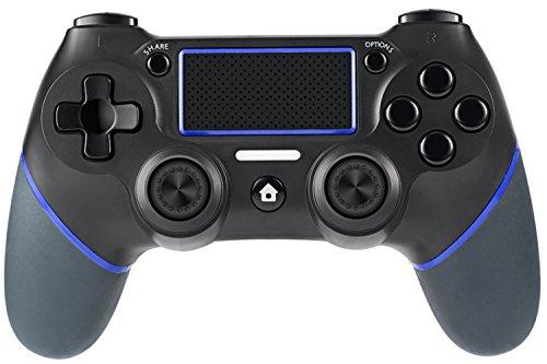PS4 コントローラー ワイヤレス 無線 振動 イヤホンジャック スピーカー内蔵 ブルー 5.50に対応