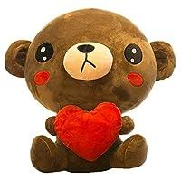 こども ぬいぐるみ 熊 くま ベア かわいい おもちゃ おもしろ 可愛い 寝室 ふわふわ 動物 抱き枕 ベッドルーム プレゼント 誕生日プレゼントガールフレンドにギフトを贈 る誕生日プレゼント,A-ブラウン,30CM