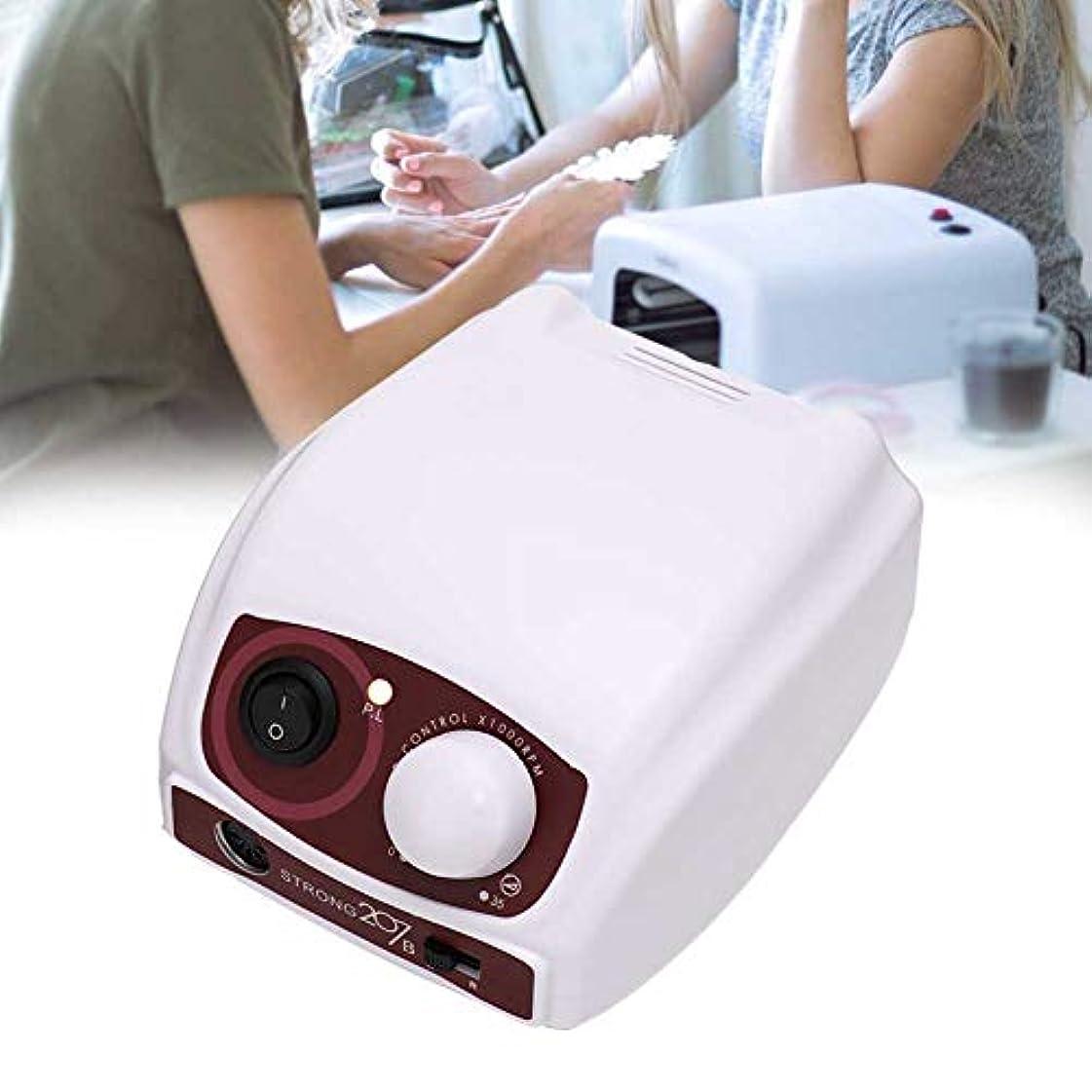 かかわらず致命的肌寒い電気ネイルファイルドリルマシンペディキュアマニキュアハンドピースポーランドネイルアートツール(米国、110V)