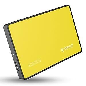 オリコ ORICO 2.5インチ HDDケース USB3.0 SATA3 UASP転送モード オレンジ 2588US3-V1-OR