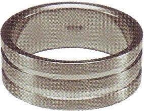 セイバーワン チタンリング TR8-01 #13 ヘアーライン+ミラー
