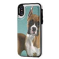 動物の犬 IPhone XS/X ケース 手帳型 アイフォンXs/アイフォンXケース 本革 ケース 財布型 レザーケース カード収納 耐衝撃 軽量 人気 オリジナル機感