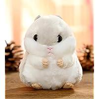 HuaQingPiJu-JP 10cm高さキッズクリエイティブ耐久性のあるおもちゃソフトぬいぐるみハムスター動物玩具人形ペンダントベビードールおもちゃミニドール女の子と少年のための子供たちのためにホットギフト(グレー)