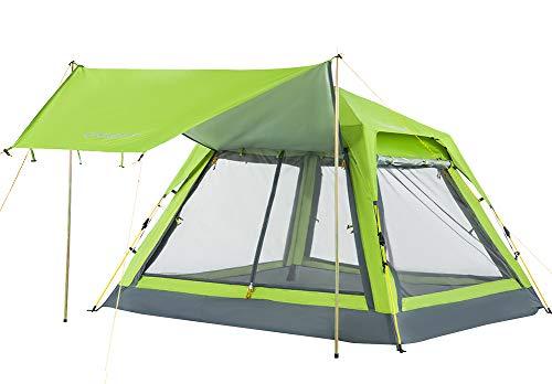 KingCamp テント ワンタッチテント 3人用 ~ 4人用 スクリーンシェード 秒速設営 撥水加工 UVカット 二層構造 通気性 虫除け サンシェード テント タープ キャンプ ツーリング アウトドア キャンプ用品 KT3099 (グリーン)
