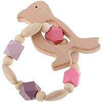 Fenteer 赤ちゃん 幼児 子供 リング 歯がため 木製 おもちゃ 玩具 かわいい 全6種類 - スタイル2-Bird