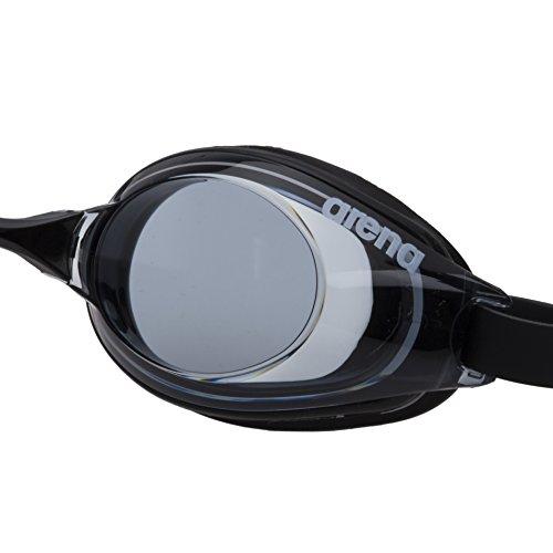 arena(アリーナ) 水泳用 ゴーグル ANTI‐FOG SWIMMINGGLASS スモーク×ブラック フリーサイズ AGL520 BSMK