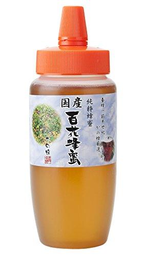 はちみつ 専門店【かの蜂】 国産 百花 蜂蜜 500g 完熟 の 純粋 蜂蜜 (とんがり容器)