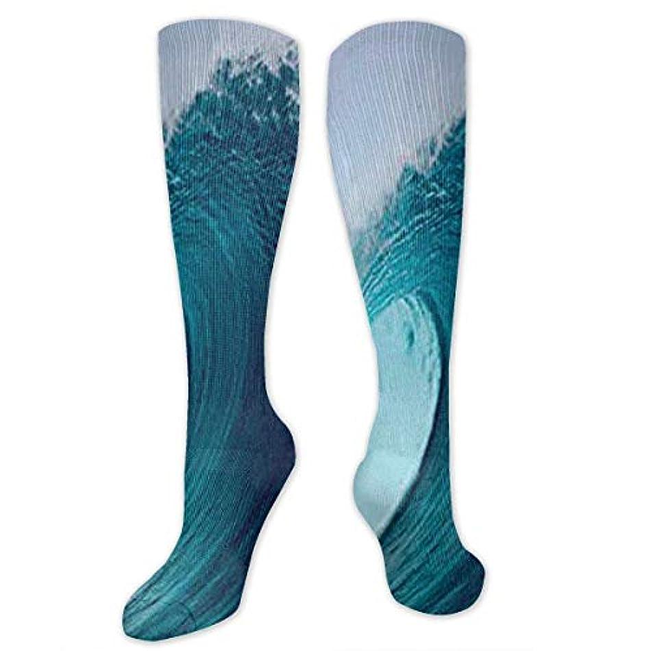 メカニック優先キリマンジャロ靴下,ストッキング,野生のジョーカー,実際,秋の本質,冬必須,サマーウェア&RBXAA Tropical Surfing Wave Socks Women's Winter Cotton Long Tube Socks...