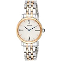 Seiko Women's Quartz Watch with Black Dial Analogue Display Quartz Stainless Steel SFQ816P1
