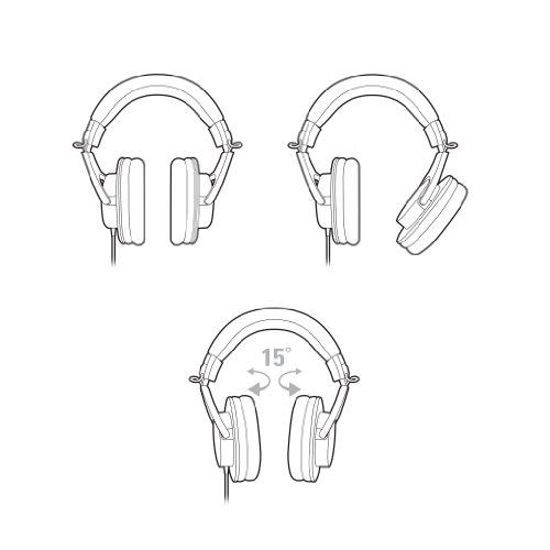 『audio-technica オーディオテクニカ プロフェッショナルモニターヘッドホン ATH-M20x スタジオレコーディング / 楽器練習 / ミキシング / DJ / ゲーム』の5枚目の画像