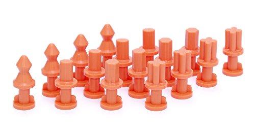ウェーブ シリコーンゴム型用 ホールド&ガイドダボピン L/オレンジ ホビー用工具 CS-021の詳細を見る