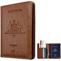 Passport Holder Travel Cover Case, TERSELY Leather RFID Blocking Passport Travelling Wallet Holder ID Credit Cards Cover Case For Passport
