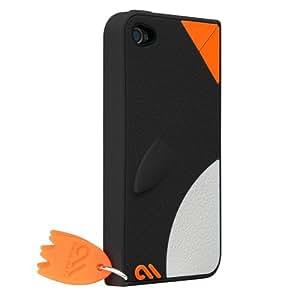 Case-Mate 日本正規品 iPhone 4S / 4 CREATURES: Waddler Case, Black クリーチャーズ ワドラー ペンギン シリコン ケース, ブラック CM015590