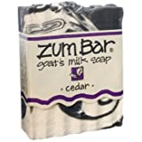 海外直送品 Indigo Wild, Zum Bar, Goat's ミルク ソープ シーダー , 3 Ounces (2個セット) (Cedar) [並行輸入品]