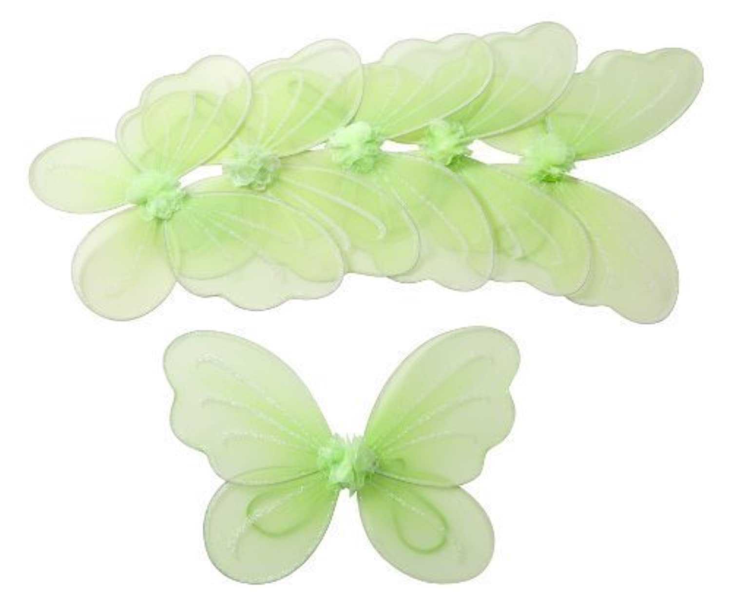 Party Favor Butterfly Wing (Set of 6) Color: Green [並行輸入品]