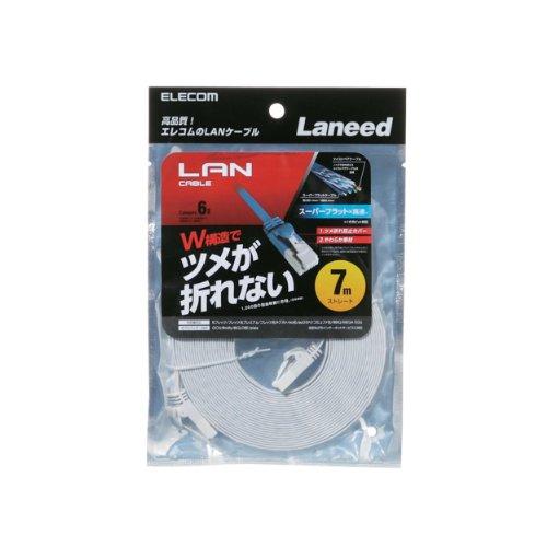 LANケーブル CAT6/爪折れ防止 フラット/7m ホワイト LD-GFT WH70 1個 [7781]