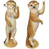 Nextin Meerkat Rude Finger Statue – Funny Garden Animal Sculpture Decoration for Backyard Porch Home Patio Lawn, Full Color F