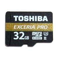 【32GB】 TOSHIBA 東芝 microSDHCカード EXCERIA PRO M501 UHS-II U3対応 R:270MB/s W:150MB/s ミニケース入 バルク THN-M501G0320-BLK