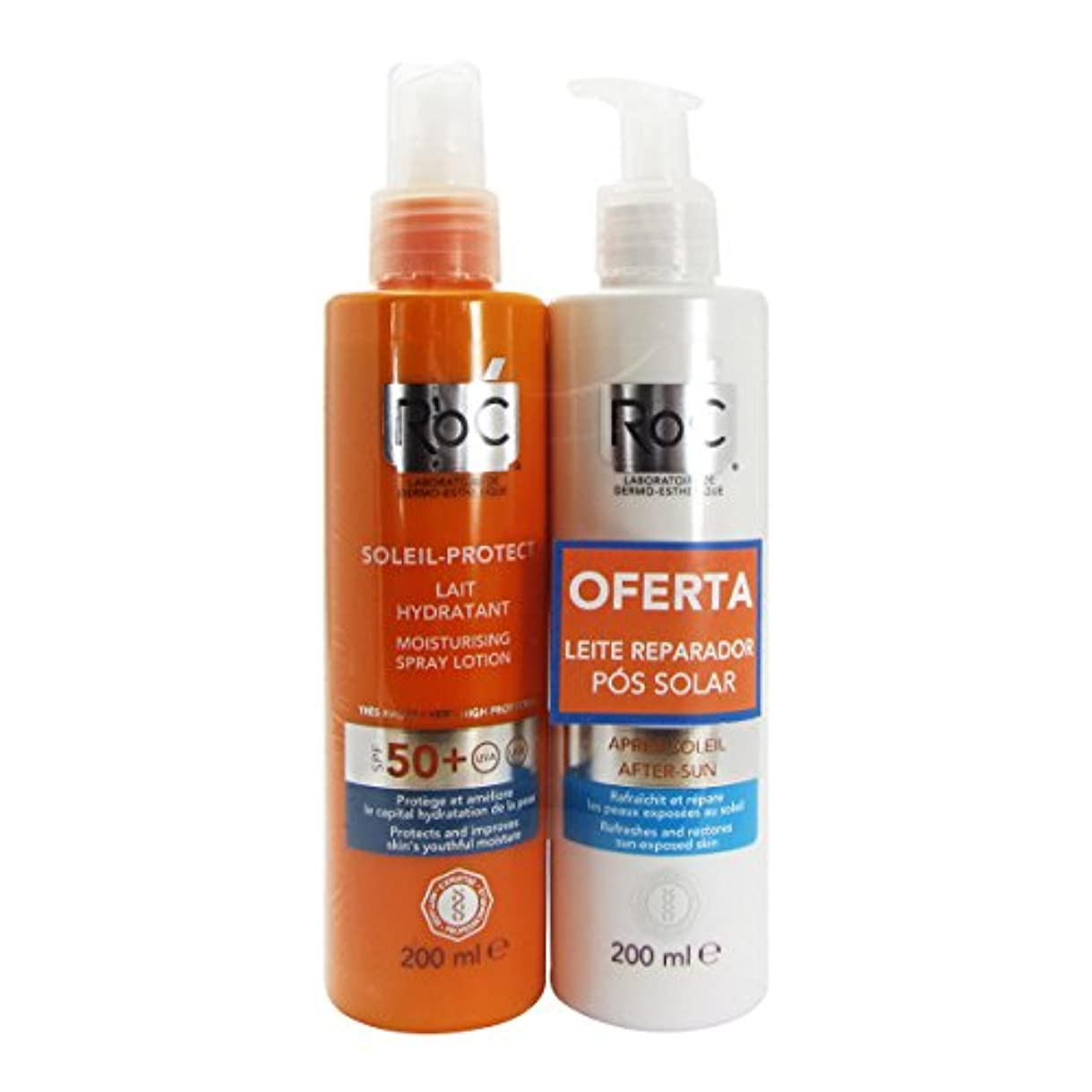 多様性鈍い妻Roc Pack Soleil Protect Hydrating Fluid Spf50 200ml + Refreshing Repair Fluid 200ml [並行輸入品]