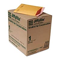 Jiffylite Self-Seal Mailer, Side Seam, #1, 7 1/4 x 12, Golden Brown, 100/Carton (並行輸入品)