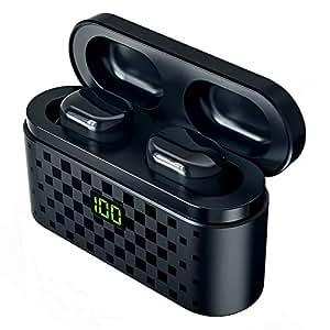 【2019進化版 Realtekチップ Bluetooth5.0 +EDR搭載LEDディスプレイ 3500mAh大容量】Bluetooth イヤホン LED 電池残量インジケーター付きイヤホン HiFi 高音質 完全ワイヤレスイヤホン ステレオサウンドAAC対応 ワイヤレス イヤホン CVC8.0ノイズキャンセリング タッチ式 ブルートゥース イヤホン 自動ペアリング 左右分離型 3500mAh大容量充電ケース 120時間連続駆動/ IPX7防水規格/ Siri対応/マイク内蔵 iPhone & Android対応 (ブラック)