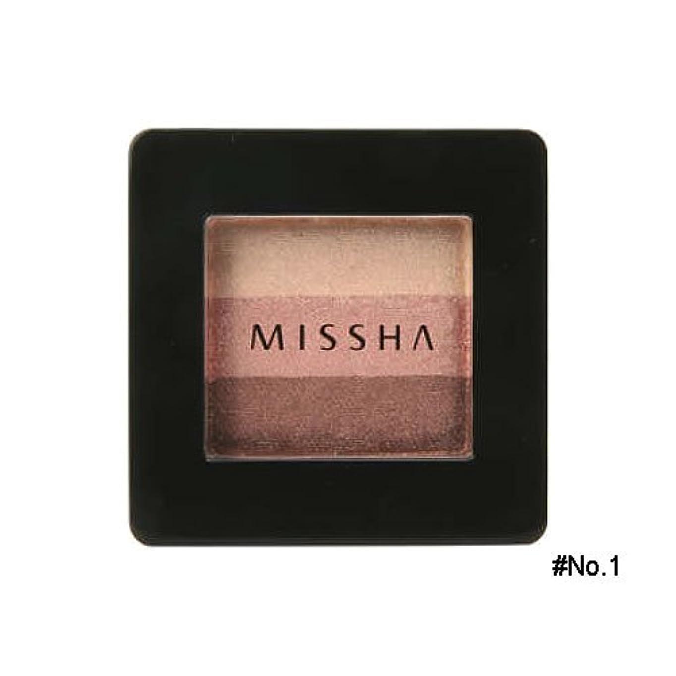 サバントより良い理解するミシャ(MISSHA) トリプルシャドウ 2g No.1(ブラウニーピンク) [並行輸入品]