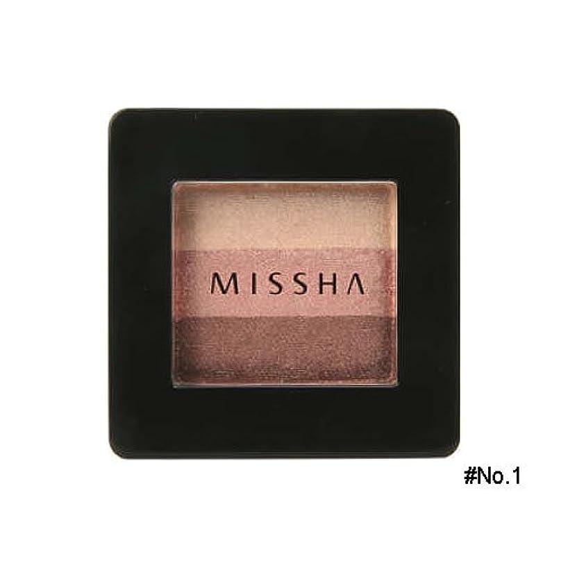 運賃ハンサムアジャミシャ(MISSHA) トリプルシャドウ 2g No.1(ブラウニーピンク) [並行輸入品]