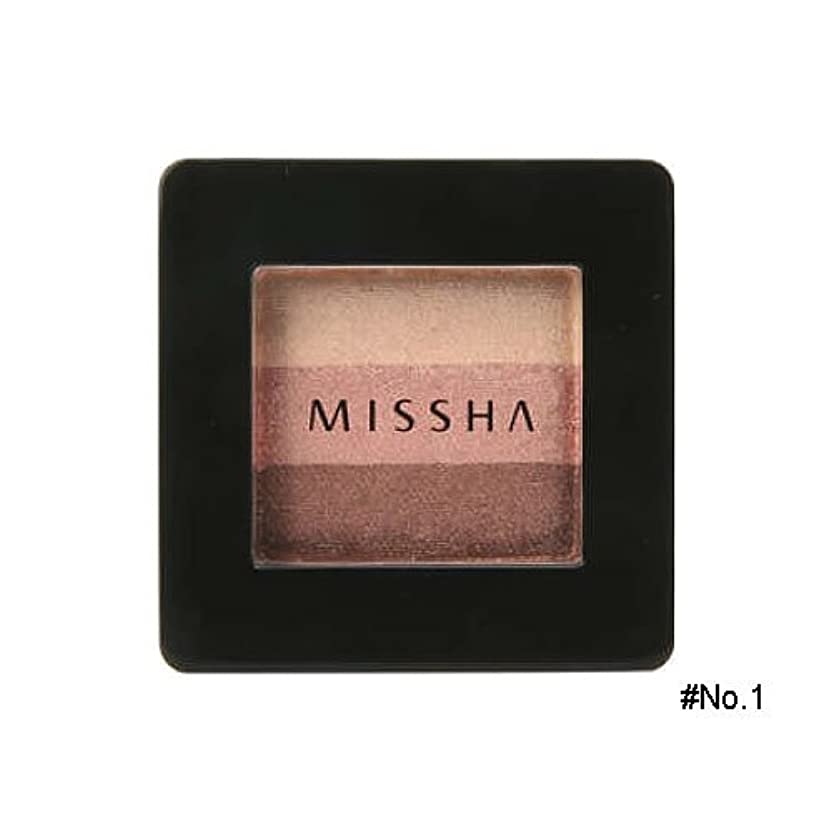 ずらす大脳テーマミシャ(MISSHA) トリプルシャドウ 2g No.1(ブラウニーピンク) [並行輸入品]