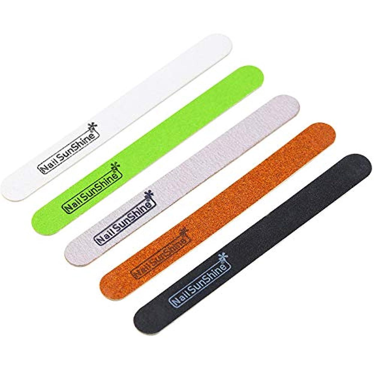 ランチョン開梱曲げるLWBTOSEE ネイルファイル 爪やすり 両面使える ネイル磨き ネイル整形 エメリーボード 5本セット 耐久 軽量 木製