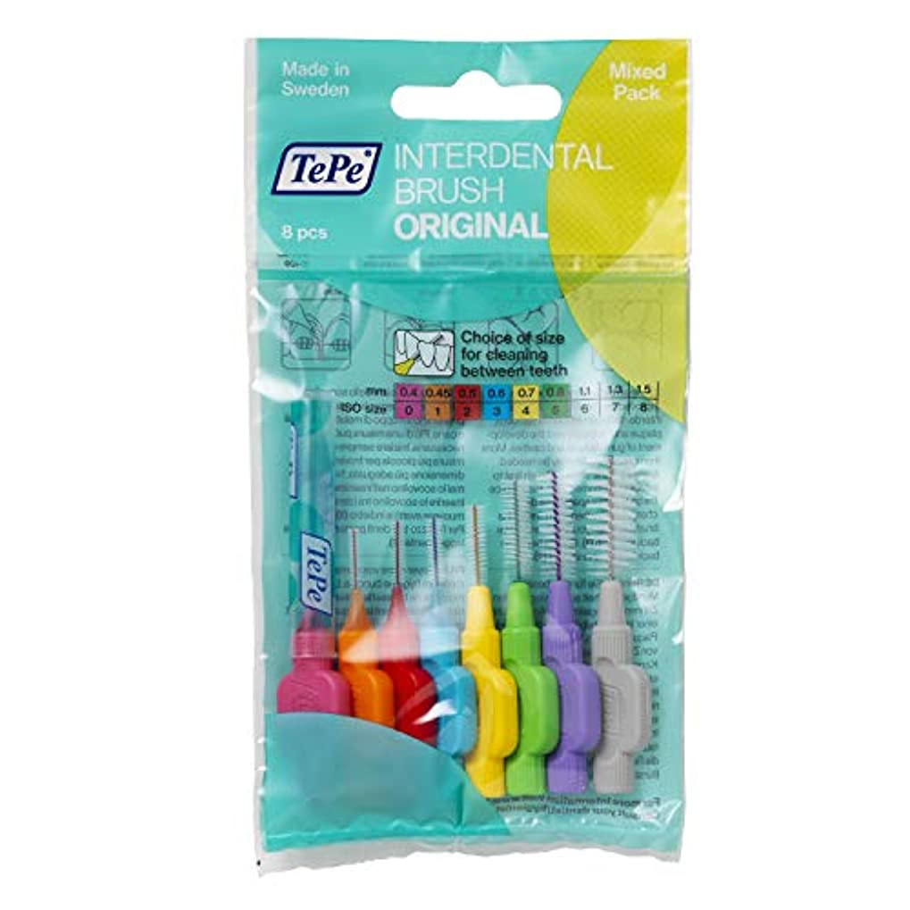無効苦しめる計り知れないTePe Interdental Brushes Original Mixed 8 Brushes by TePe