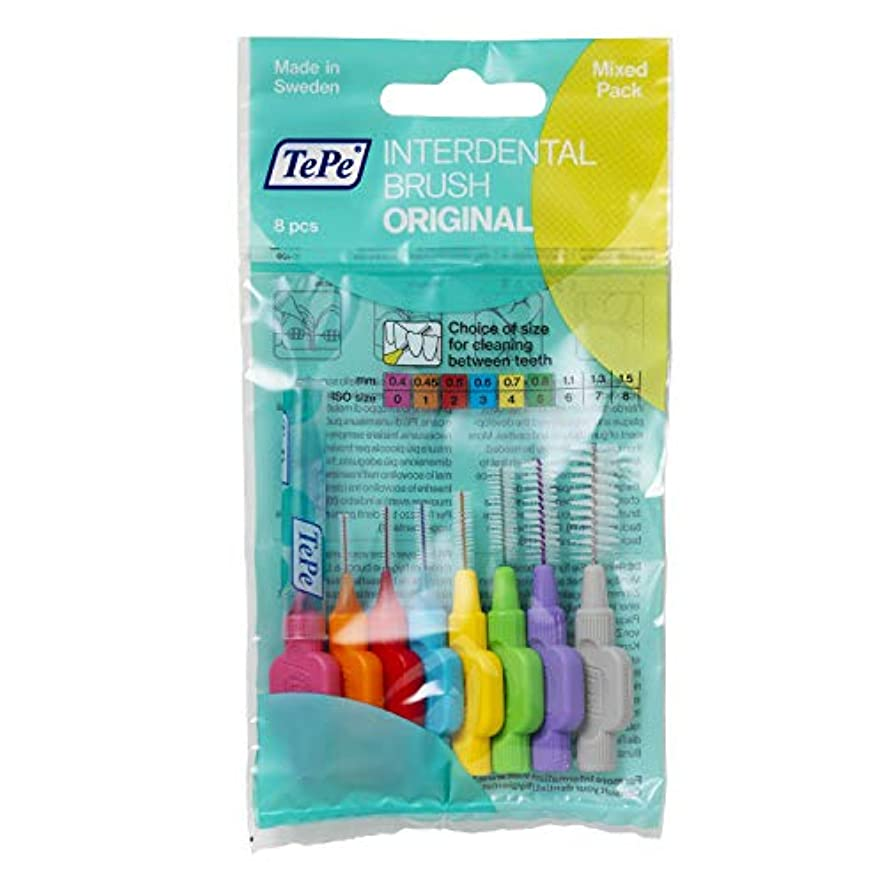 あまりにも立証するネックレスTePe Interdental Brushes Original Mixed 8 Brushes by TePe