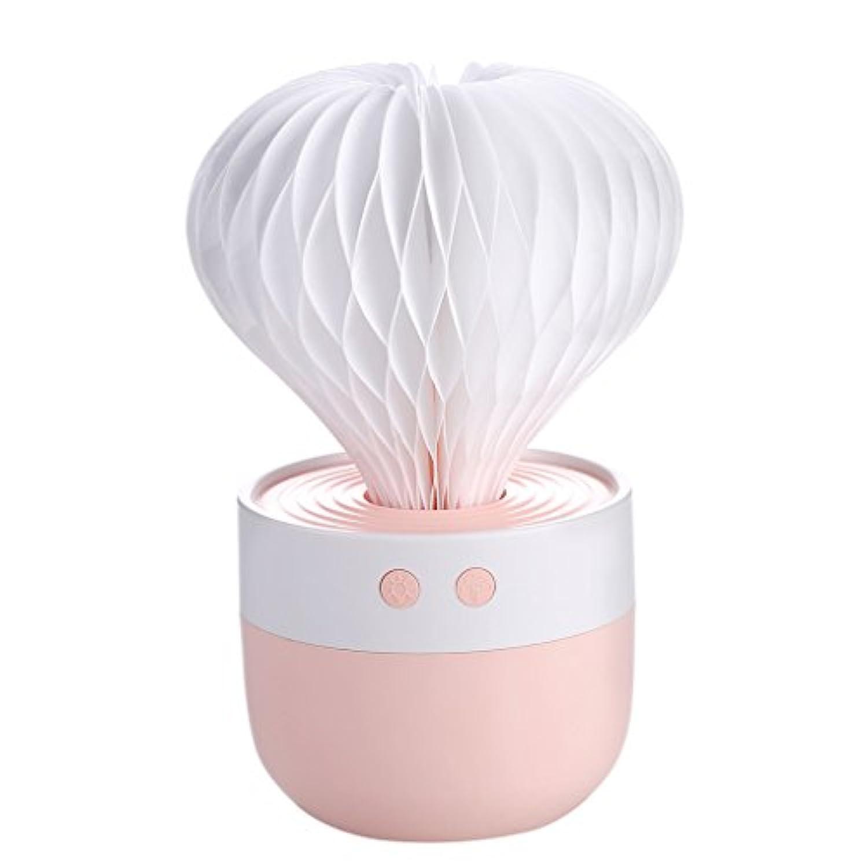 サボテンのUSB加湿器家庭用ベッドルームのデスクトップカラフルなナイトライトフィルター10.5 * 10.5 * 15センチメートル,Pink