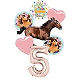 Mayflower Products スピリットライディングフリー パーティー用品 5歳の誕生日 ギャロップ馬 バルーンブーケ デコレーション